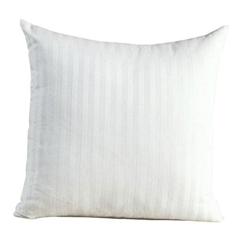 Homescapes Damast Kopfkissenbezug 40x 40cm 100% reine ägyptische Baumwolle Fadenzahl 330, weiß