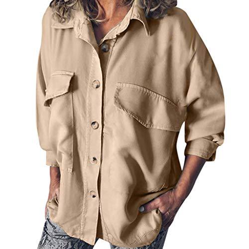 Größte Jemals Kostüm - Sweatshirt Damen Große Größe Einfarbig Double Pocket Tooling Shirt