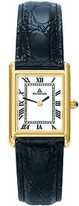 Dugena 4407830 - Reloj analógico de mujer de cuarzo con correa de piel negra - sumergible a 30 metros de Dugena