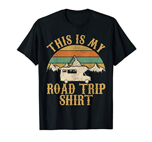 This Is My Road Trip Shirt Vintage Camping Wohnmobil T-Shirt