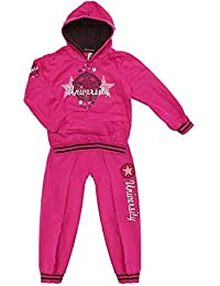 Girls Star University Hoody Tracksuit Jogsuit Outfit Jog Set 3 to 14 Years