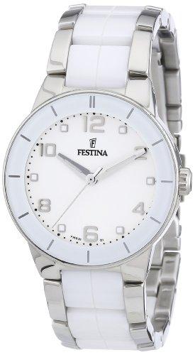 Festina Ladies Watch F16531/1 With White Ceramic Inlay