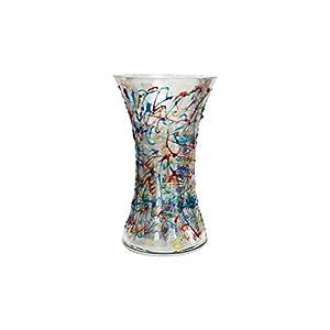 Reflex Vase Jazz 250 handbemaltes Glas im venezianischen Murano-Stil