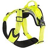 HURTTA Lifeguard Dazzle Hundegeschirr, Brust 60-80 cm, gelb