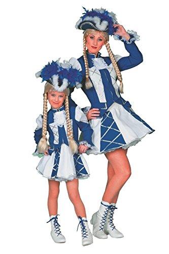 Jannes - Tanzmariechen Kostüm Kinder, Blau Weiß -