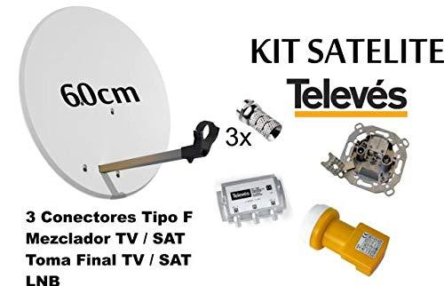 Kit Antena PARABOLICA 60cm TELEVES + Mezclador DE