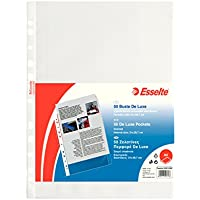 ESSELTE Buste perforate DE LUXE - PPL antiriflesso - f.to A4 - 395074300