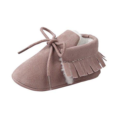Moresave , {Chaussures premiers pas pour bébé (garçon) rose profond
