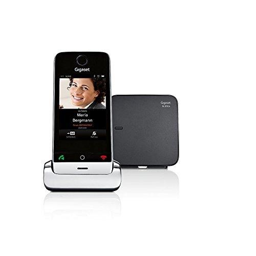 nurlostelefon mit Anrufbeantworter - DECT Telefon mit Touchdisplay und - Design Telefon mit Echtmetall-Rahmen - pianoschwarz ()