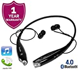 Exxelo Wireless Bluetooth Earphone Headphone with Mic, Sweatproof Sports Headset, Best for Running