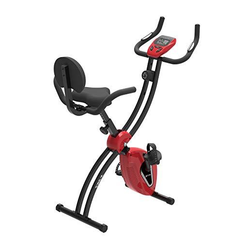 Murtisol F-Bike Faltbarer Sport Fahrradtrainer mit Ultra Große Sitz,Trainingscomputer,Handyhalter, Handpulssensoren