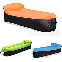 Unbekannt Aufblasbares Sofa,NewMum Wasserdichtes Aufblasbarer Sitzsack mit Integriertem Kissen, Tragbar Air Betten Schlafen Sofa Couch, für Sich Sonnen, Strand, Hinterhof