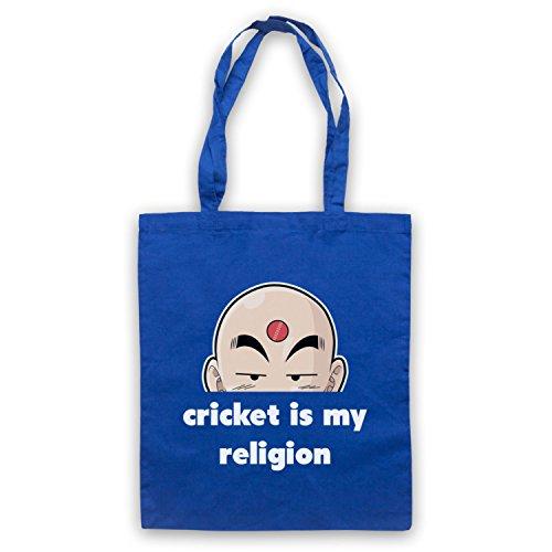 Cricket È La Mia Religione, Lo Slogan Del Cricket Umhangetaschen Blau