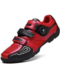 Gogodoing Zapatillas de Ciclismo de Carretera Calzado de Bicicleta para hombreCalzado para Bicicleta Ligero y Resistente Calzado para Bicicleta de Carretera