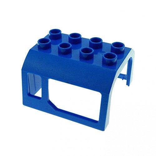 1 x Lego Duplo Eisenbahn Aufsatz blau 2x4 Kabinen Dach Lokomotive Fenster Zug für E-Lok 51546