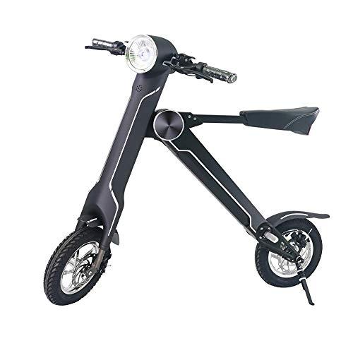 NAMENLOS 12 Zoll faltendes elektrisches Motorrad mit Bluetooth-Lautsprecher, leichtes Rad-elektrisches Fahrrad, elektrischer Roller mit Seat-Aluminiumlegierungsbalance-Auto,Black - Bluetooth-auto-rad
