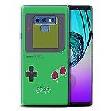 Stuff4 Coque Gel TPU de Coque Samsung Galaxy Note 9/N960 / Vert Design/Jeu...