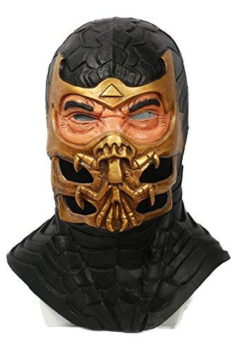 pion Latex voller Kopf Helm Spiel Cosplay Kostüm Merchandise für Homme Kleidung Zubehör (Kostüm Von Scorpion)