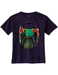 The Mountain Peace Frog T-shirt violet