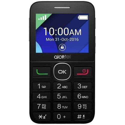 Alcatel 20-08GT - Teléfono móvil (Teclado Grande, Pantalla de 2.4', Memoria de 4 MB, cámara de 2 MP, botón de Emergencia) Color Negro