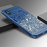 OCHENG Étui Anti-Chute en Silicone pour téléphone Portable iPhone XS Max (Couleur...