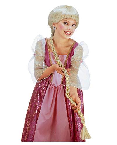 Horror-Shop Kinderperücke Rapunzel blond für Fasching & (Turm Prinzessin Kostüm Perücke)