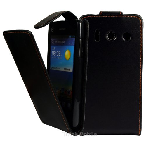 huawei-ascend-y300-case-thinkmobile-black-pu-leather-flip-case-cover-for-huawei-ascend-y300