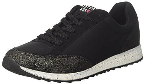 Superdry Core Runner, Chaussures de Gymnastique Femme, Noir (Antique Gold/Black), 40 EU