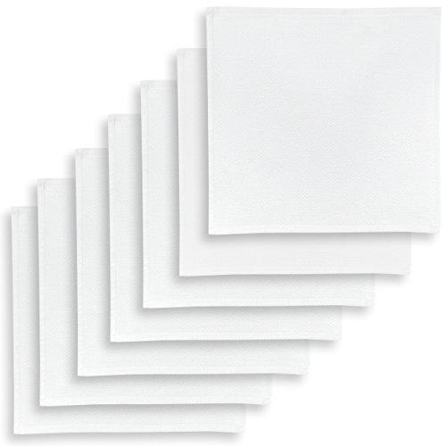 ziczac-affaires KRACHT, Spültuch, Poliertuch, Putztuch, 100{e370c764e4015240be36af4881a358247525353904788bf08c76cb93e7d527b5} Baumwolle, 6 Farben, 4 Setvarianten, Edition, Format 30x30 cm (7er Set, Weiss)