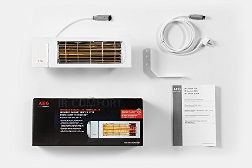 AEG Kurzwellen-Heizstrahler IR Comfort 2024 H mit Hirschmannstecker, 2000 W, hocheffiziente Qualitäts-Goldröhre, 229955 - 7