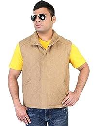 Bareskin men's Beige wool type regular fit sleevlees jacket
