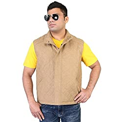 Bareskin mens Beige wool type regular fit sleevlees jacket