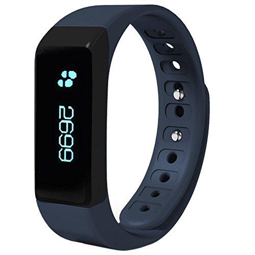 EFOSHM Upgrated Smart Watch Wireless Activity and Sleep Monitor Pedometer Smart Fitness Tracker Wristband Watch Bracelet for Men Women Boys Girls Ladies Man Iphone Sumsung HTC (Blue)