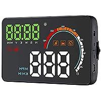 lzndeal Auto coche Hud OBD2Head Up Display conducción Computer HD Proyector de pantalla Detector para Audi A1A3A4A5