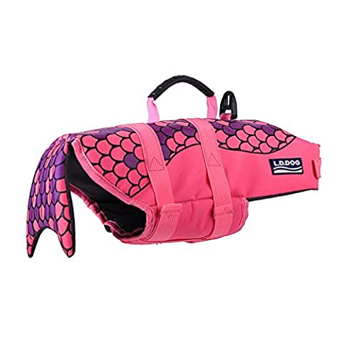 Ranphy Petit Chien/Chat Poisson Style économiseur flotteur Manteau pour animal domestique Preserver Chien d'entraînement de natation d'été piscine de vêtements de plage Apparel