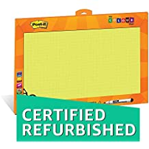 (CERTIFIED REFURBISHED) Post – it My Color Wall (Yellow) - Printed Whiteboard/Writing board for kids