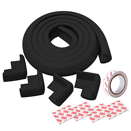 XCSOURCE 6.6ft 2m Safe Edge   4 Corner Cushions Table Desk Baby Safety Guard Protector Black MT228