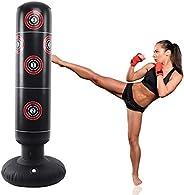 LncBoc Saco de Boxeo 160 cm, Saco de Boxeo de pie para un Rebote inmediato para Practicar Karate, Taekwondo y