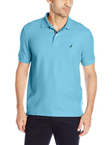 Nautica Herren Poloshirt Solid Anchor Deck Classic Fit Blue Grotto