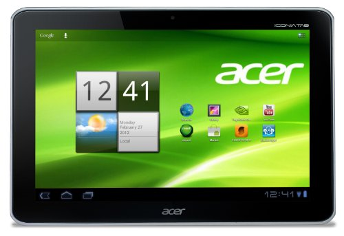 Acer Iconia A210 25,7 cm (10,1 Zoll) Tablet-PC (NVIDIA Tegra 3 Quad-Core, 1,2GHz, 1GB RAM, 16GB eMMC, Android 4.1) weiß (Nvidia Tegra 3)