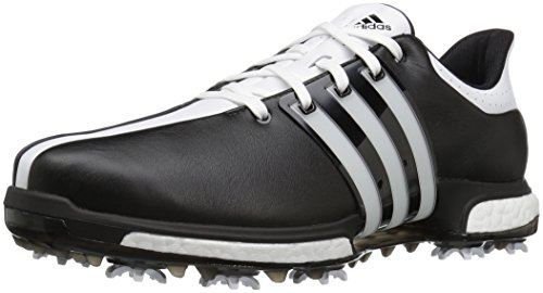 adidas Men's Tour 360 Boost Cblack/FTW Golf Shoe, Black, 13 M US