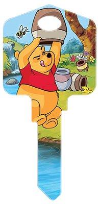HILLMAN FASTENERS - Disney Winnie the Pooh-Hug Me Painted Key Blank - Hillman Ganci