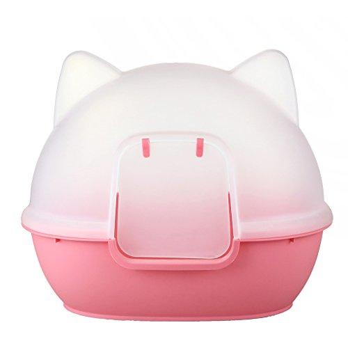 Haustier sauber Zubehör Katze Toilette Katze Kopf Katzenstreu Katze Töpfchen Haustier Katze Sandbassin ( Farbe : Pink )