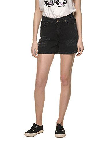 dr-denim-jeansmakers-womens-jenn-womens-black-high-waist-shorts-in-size-26-black