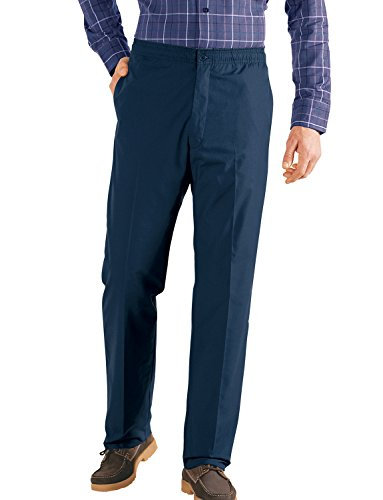 Mens Fleece Lined Elasticated Thermal Draw Cord Trousers