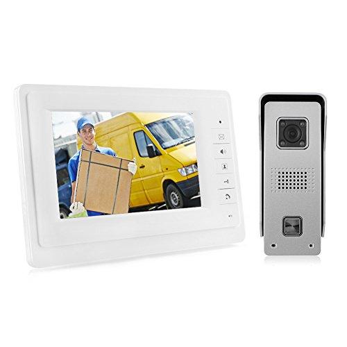 """MVPower 7"""" TFT LCD Video-Türgegensprechanlage Farbbildmonitor Videosprechanlage Gegensprechanlage Video Nachtsicht-Funktion wasserdicht"""