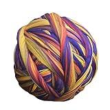 Chunky Garn, riesige Strickgarn Acryl Wolle Baby Bernat Decke Garn Rolle weichen flauschigen dicken großen bunten für Arm stricken - blau & gelb & lila & orange