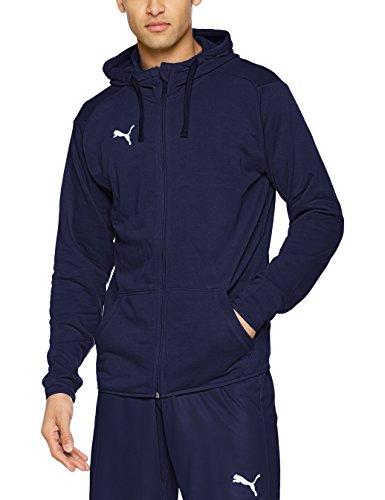 Puma Herren Liga Casuals Hoody Jacket Jacke, Blau (Peacoat-puma white), S (Puma-peacoat)