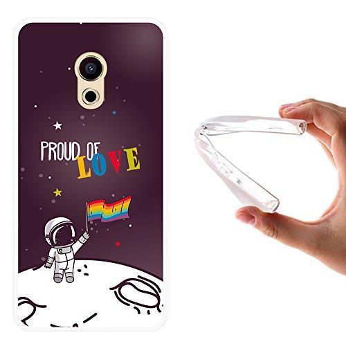 Meizu Pro 6 Hülle, WoowCase Handyhülle Silikon für [ Meizu Pro 6 ] Astronaut Gay Flagge Handytasche Handy Cover Case Schutzhülle Flexible TPU - Transparent
