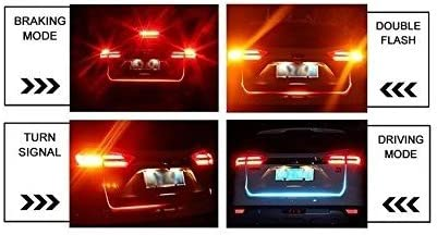Guance Car Boot Trunk Led Light Multi Function Light Ice Blue & Red DRL Brake With Side Turn Signal & Parking Indication Dicky, Trunk, Boot Strip Light For Hyundai I10 Grand/Xcent